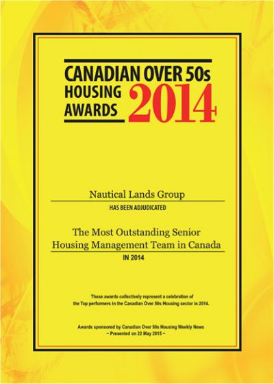 Canadian Over 50's Awards 2014