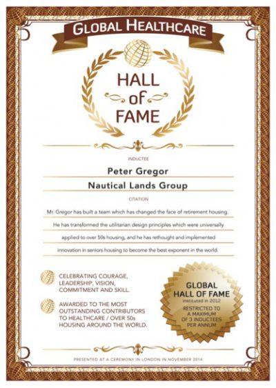 Over 50s Hall-of-Fame Peter Gregor 2014