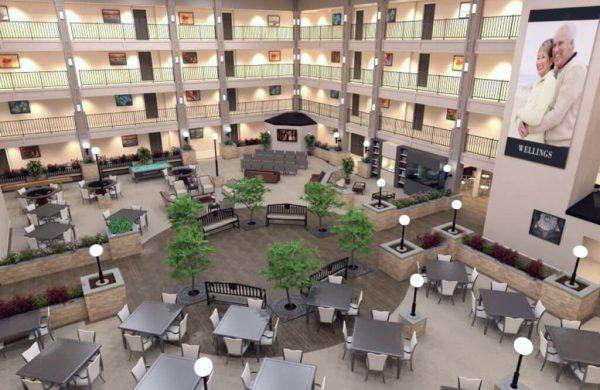 Top View Of Atrium